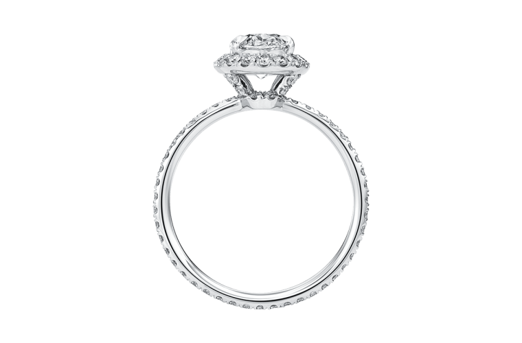 Harry Winston solitaire engagement ring